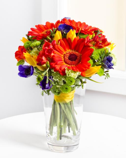 Mixed Bouquet in Red Colours