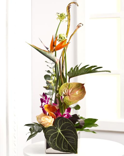 Luxurious Arrangement with Exotic Flowers
