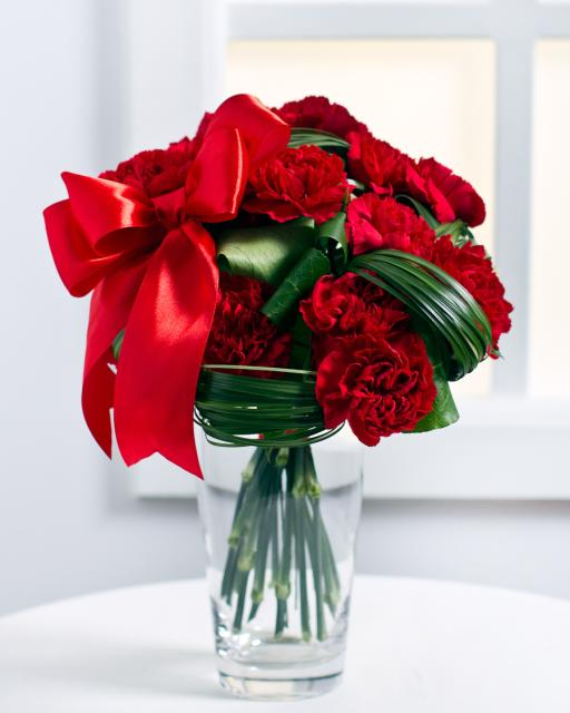 Lovely Bouquet of Red Carnations